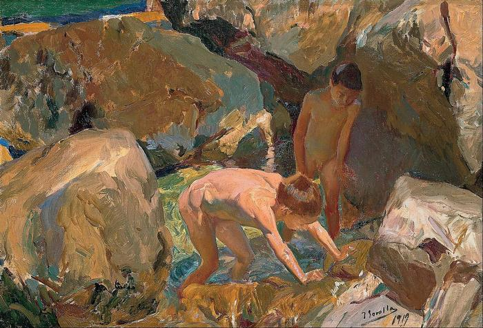 Gyerekek rákásznak (1919), Joaquin Sorolla
