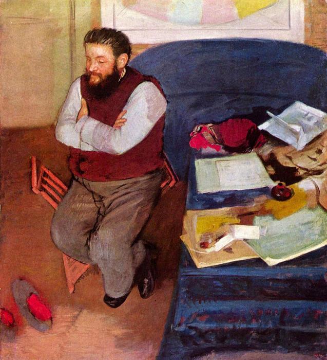 Diego Martelli portréja, Edgar Degas