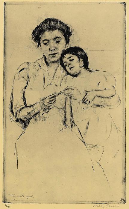 Zsebkendő, Mary Cassatt