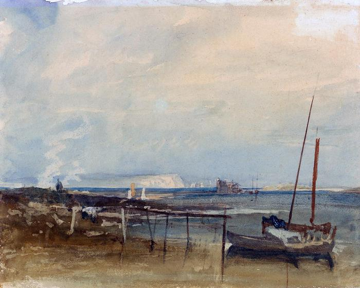 Tengerpart háttérben a  Fehér sziklákkal (színverzió 1), William Turner