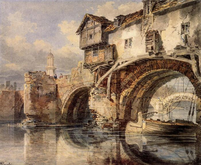 Shrewsbury, a Welsh- híd, William Turner