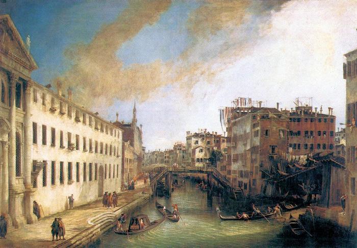 A Mendicanti folyó, Canaletto