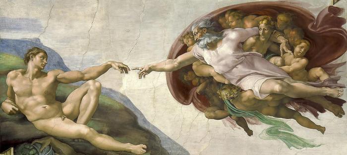 Ádám teremtése (1508-1512), Michelangelo