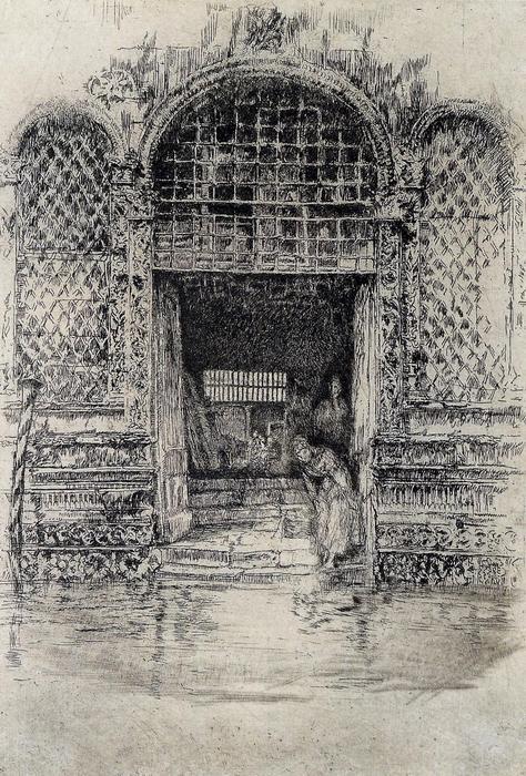 Az ajtóban, James McNeill Whistler