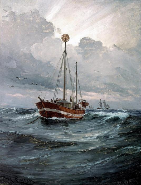 Jelzőhajó a skageni zátonynál, Carl Locher