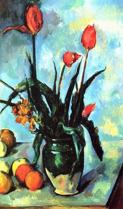 Csendélet tulipánokkal, Paul Cézanne