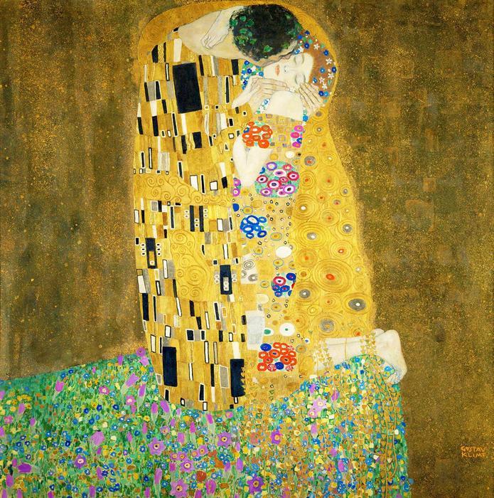 A csók, 1908, Gustav Klimt