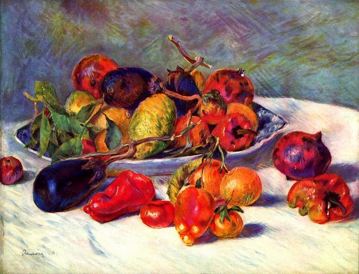 Csendélet trópusi gyümölcsökkel, Pierre Auguste Renoir