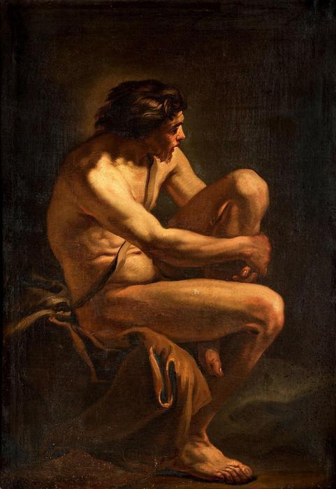 Ülő férfi, Charles-André van Loo