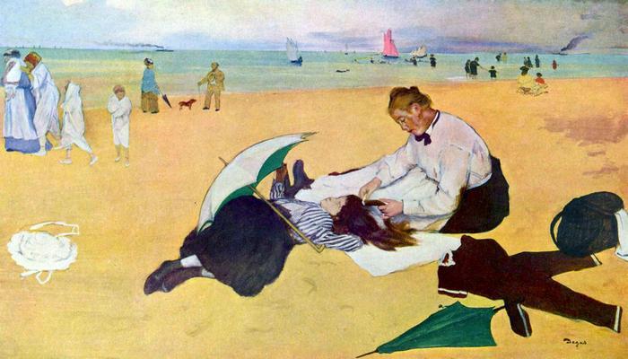 Kislány a tengerparton, Edgar Degas