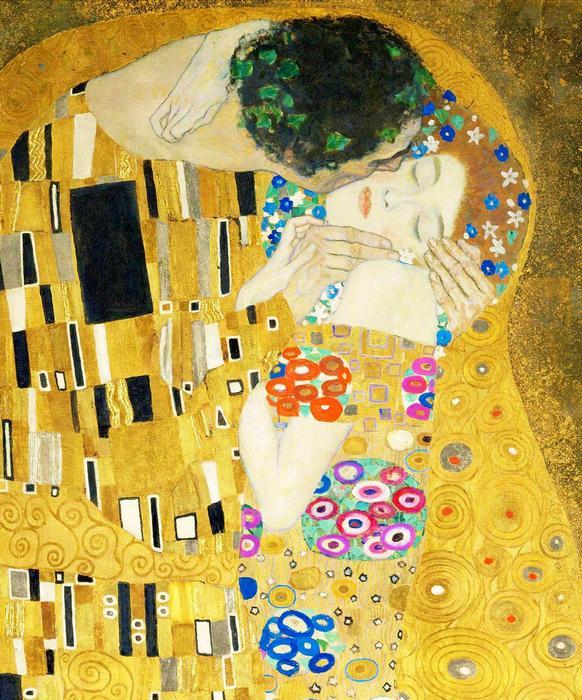 A csók (részlet), 1908, Gustav Klimt