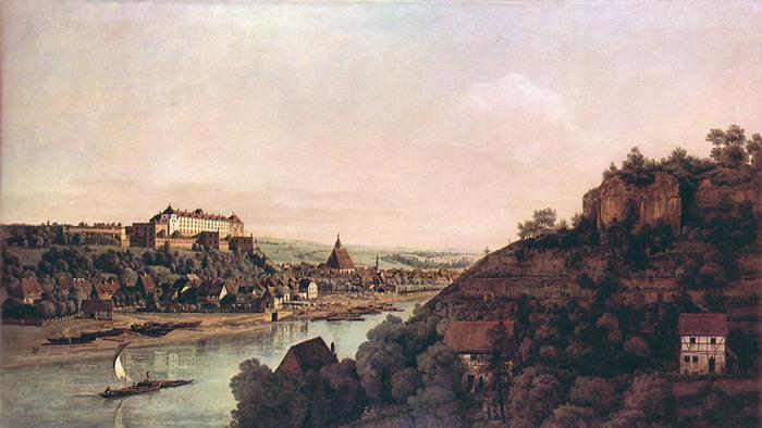 Pirna látképe, Canaletto