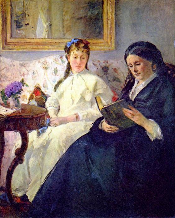 A művész anyja és lánya, Berthe Morisot