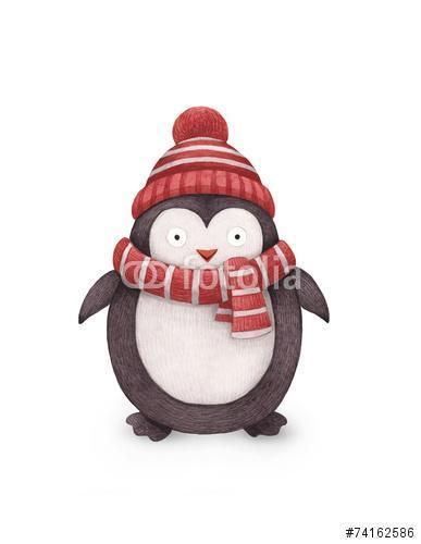 Pingvin akvarell illusztrációja, Premium Kollekció