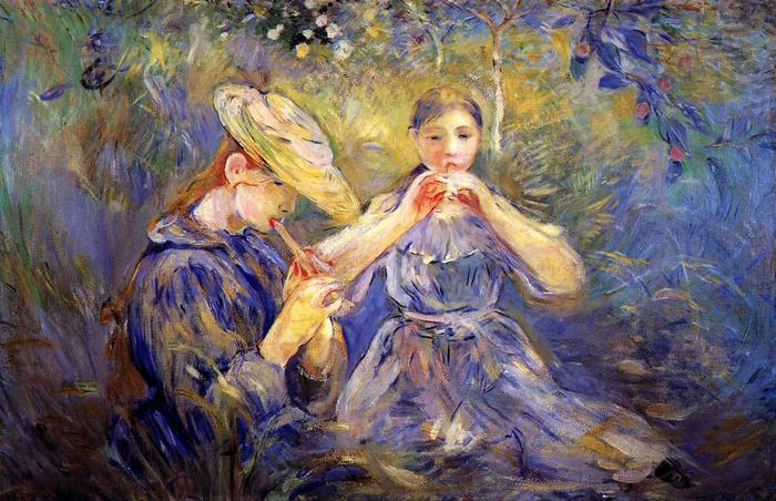 Furulyán játszó lányok, Berthe Morisot