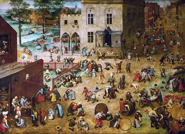 Gyermekjátékok (színverzió 1.), Pieter Bruegel the Elder