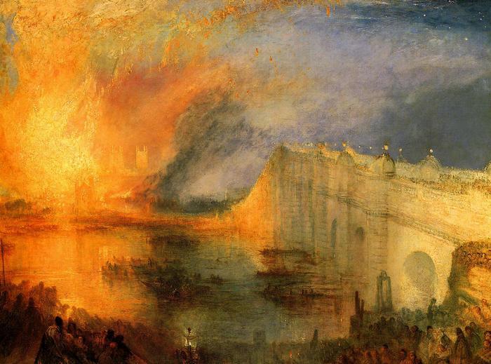 A lord és a köznép égő házai, William Turner
