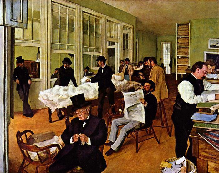 Gyapot tőzsde, 1873, Edgar Degas