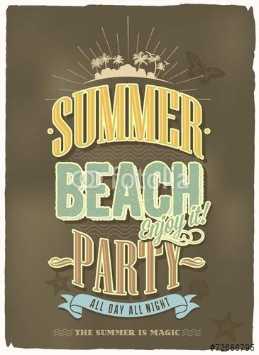 Vintage nyári vakáció vektoros háttér tipográfiai, Premium Kollekció