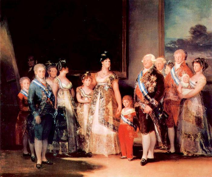 IV. Károly spanyol király és családja, Francisco José de Goya