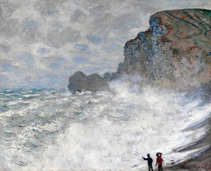 Háborgó tenger Étretat-nál (1883), Claude Monet