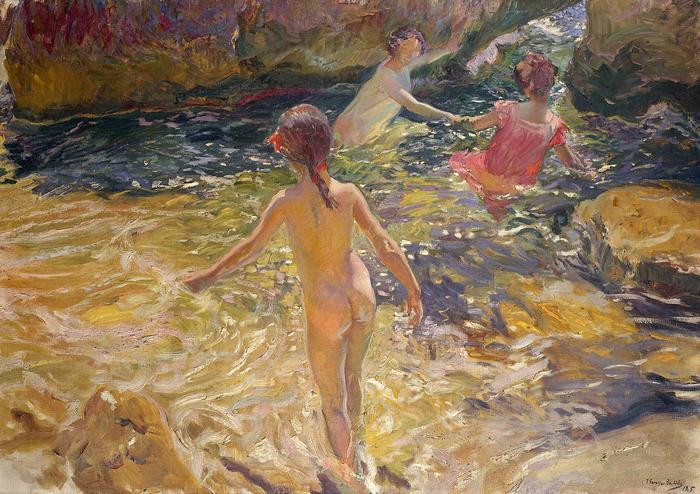 Fürdőzők (1905), Joaquin Sorolla