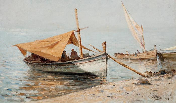Délután Toulon-i tengerparton, Giovanni Battista Castagneto