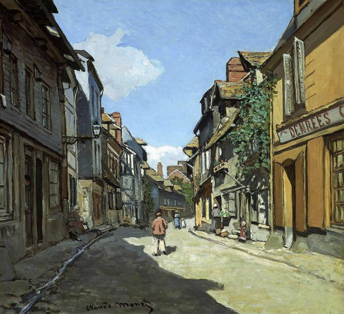 Rue de la Bavole Honfleur (1867 körül), Claude Monet