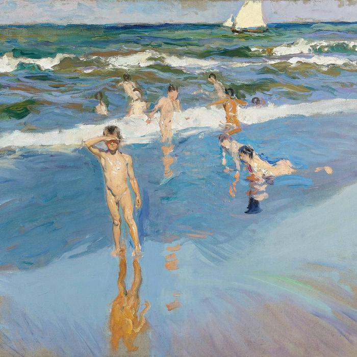 Gyerekek a tengerparton, részlet (1909), Joaquin Sorolla