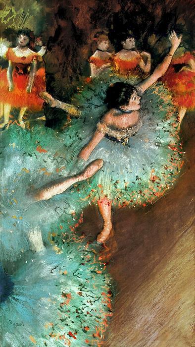 Balett-táncosok (colored version), Edgar Degas