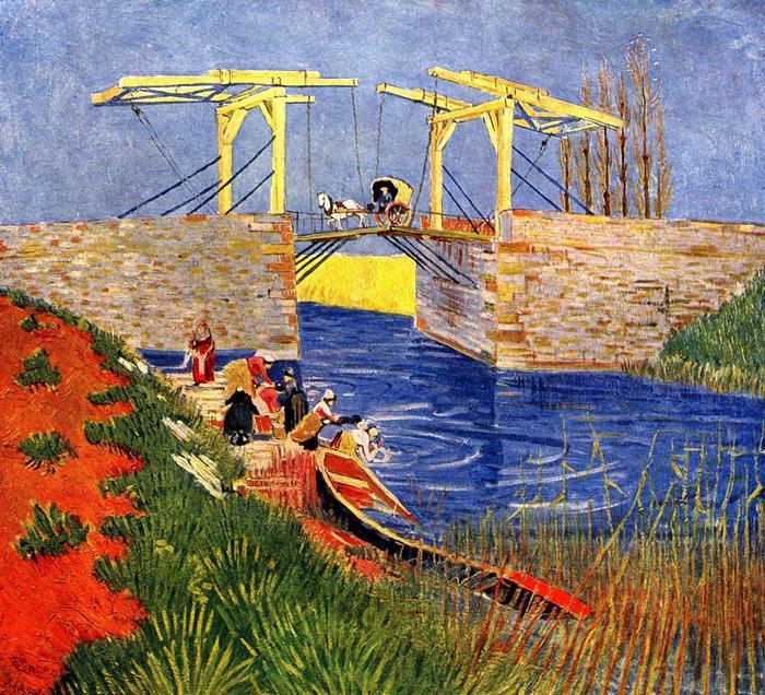 Az arles-i Langlois-híd mosónőkkel, Vincent Van Gogh