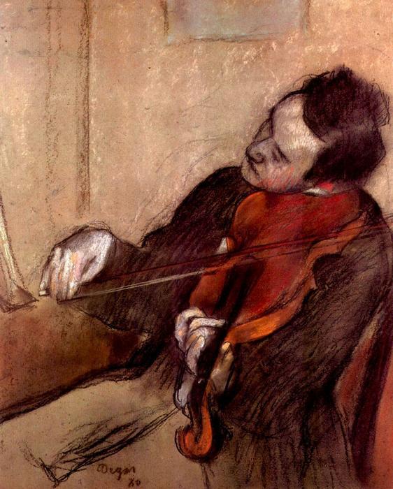 A hegedűs, No. 1., Edgar Degas