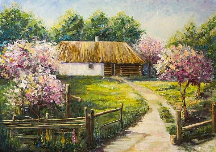 Falusi udvar (festmény), Premium Kollekció