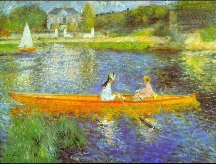 Csónakázó hölgyek a Szajnán, Pierre Auguste Renoir