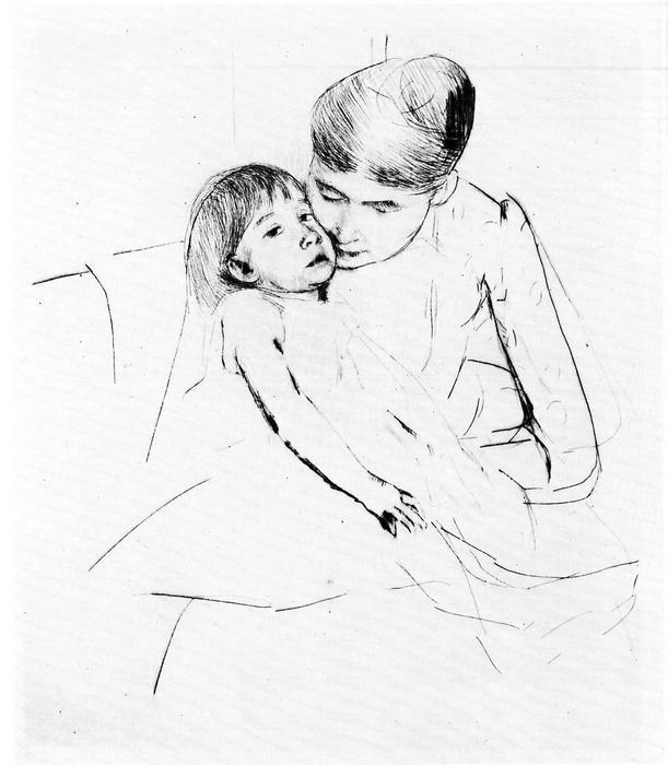 A beteg gyermek, Mary Cassatt