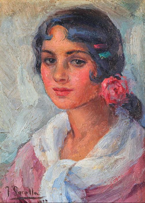 Női portré (1922), Joaquin Sorolla