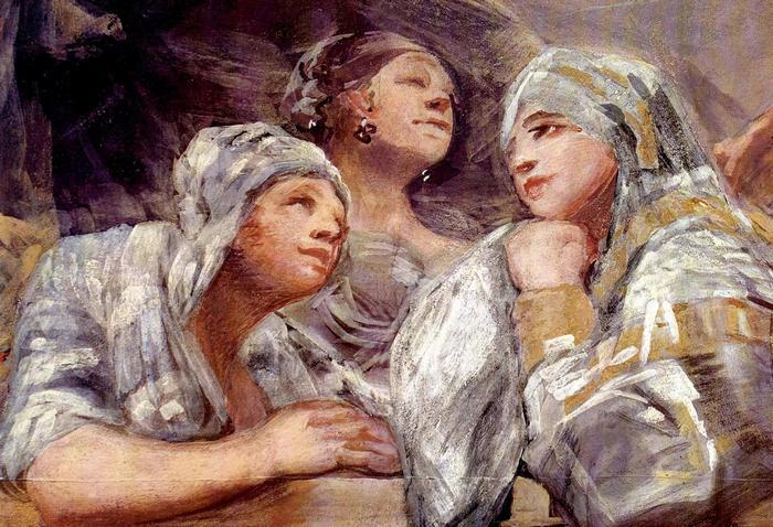 Nézelődők, Francisco José de Goya
