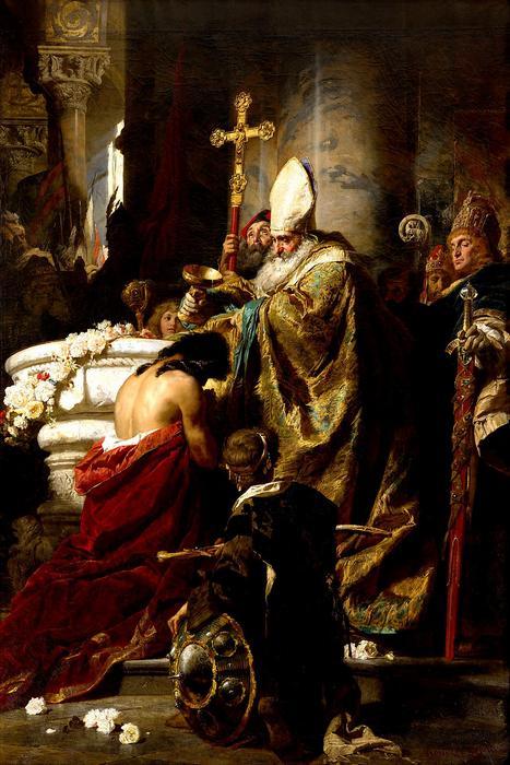 Vajk megkeresztelése , Benczúr Gyula