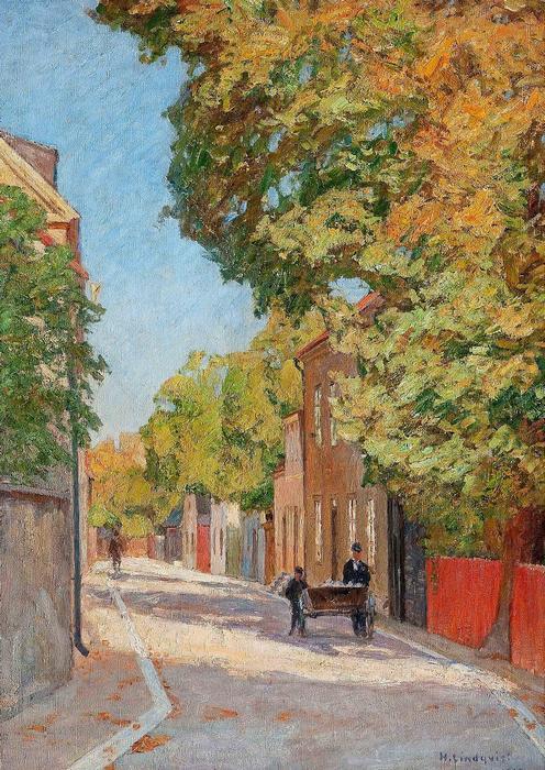 Visby-i utcarészlet - színverzió 1., Herman Lindqvist