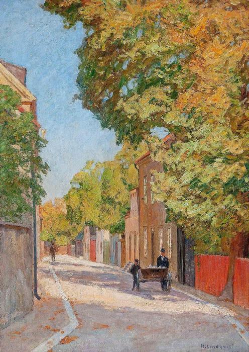 Visby-i utcarészlet, Herman Lindqvist