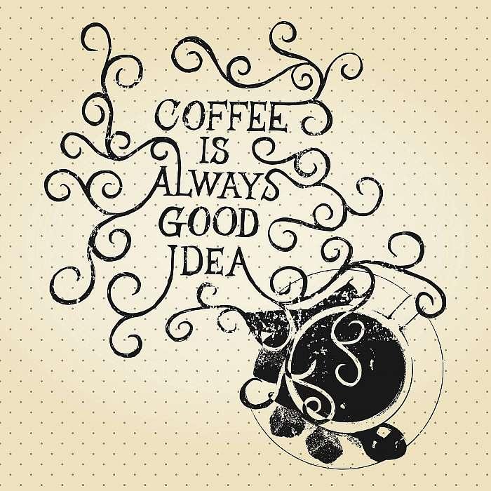 A kávé mindig jó ötlet - retro stílus, Premium Kollekció