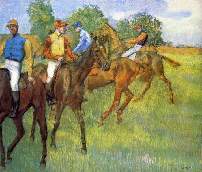 Lovasok, Edgar Degas