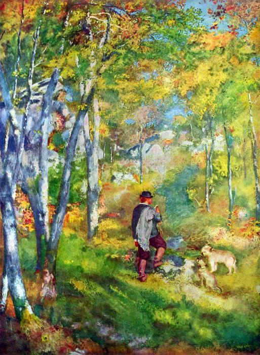 Fiatal férfi a Fontainebleau-i erdőben, Pierre Auguste Renoir