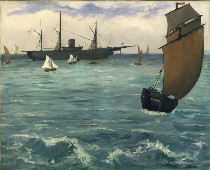 A Kearsarge hadihajó Boulogne-nál (1864), Edouard Manet