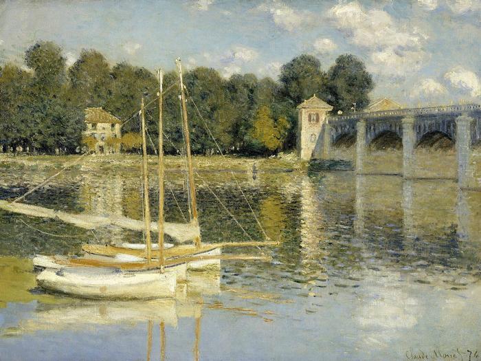 Híd Argenteuil-ban (1874), Claude Monet