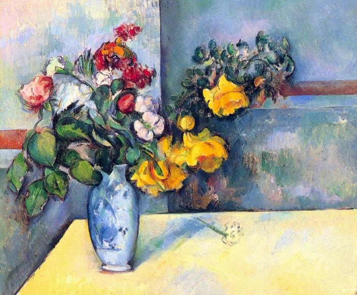 Csendélet, virágok vázában, Paul Cézanne