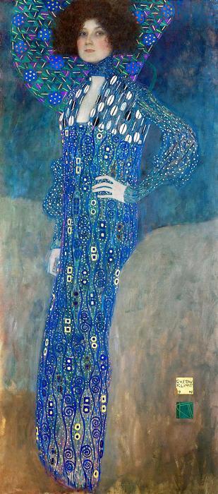Emilie Flöge portréja (színverzió 1.), Gustav Klimt