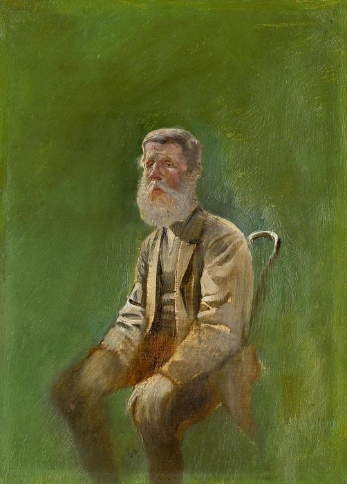 Idős férfi a széken ( tanulmány), Mednyánszky László