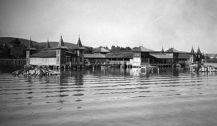 Balatonfüred, fürdőház (1935), FORTEPAN