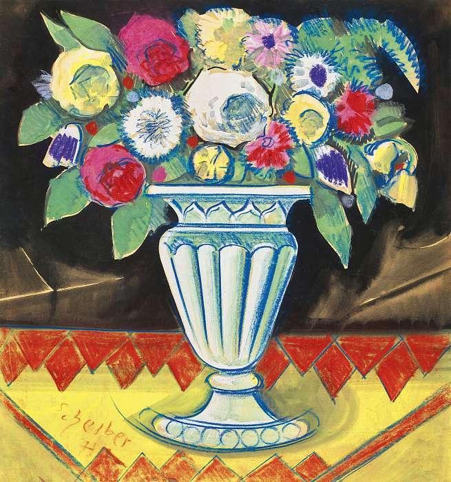 Virágcsokor, Scheiber Hugó